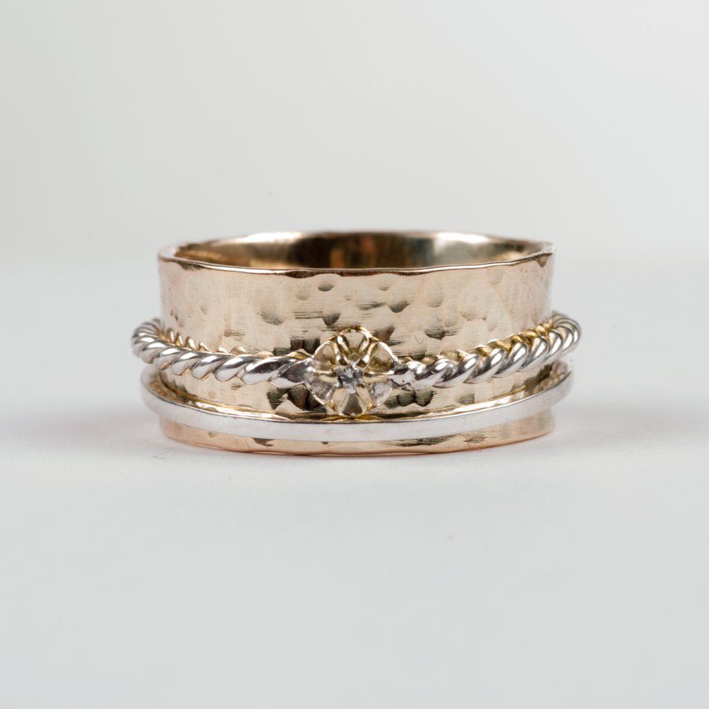 spinner ring goud