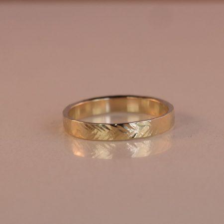 gouden ring Leaf
